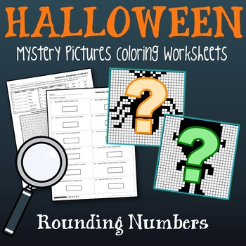 halloween rounding worksheets place value rounding coloring sheets
