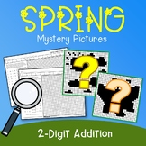 Double Digit Addition Color Number Spring Morning Work 2nd Grade Mystery Picture