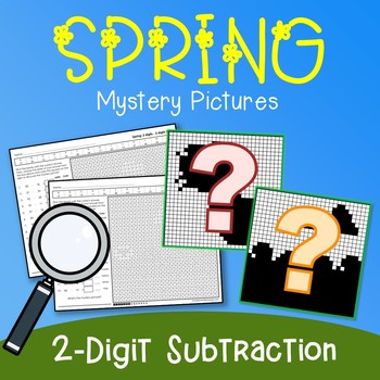 Spring 2 Digit Subtraction Coloring Pages