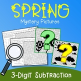 Spring 3 Digit Subtraction Coloring Pages