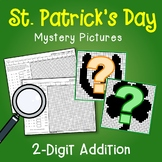 St. Patrick's Day 2 Digit Addition Coloring Pages