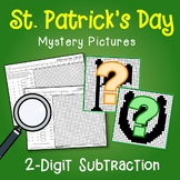 St. Patrick's Day 2 Digit Subtraction Coloring Pages