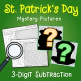 St Patricks Day 3 Digit Subtraction Coloring Pages