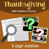 Thanksgiving 2 Digit Addition Coloring Pages
