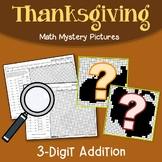 Thanksgiving 3 Digit Addition Coloring Pages
