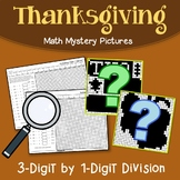 Long Division Coloring Page Math Thanksgiving Worksheet Mystery Picture Activity