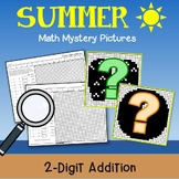 Summer 2 Digit Addition Coloring Pages, Summer Color By Number Addition