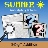 Summer 3 Digit Addition Coloring Pages