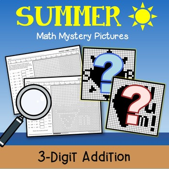 Horizontal 3-Digit Addition Worksheets Summer Math Packet 3rd Grade Color Pages