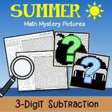 Summer 3 Digit Subtraction Coloring Pages