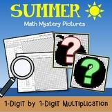 Summer Multiplication Coloring Activity, Fun Summer Worksheets