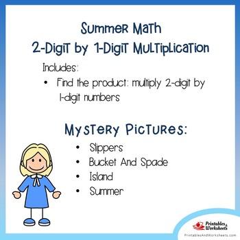 Multiplying 2-Digit by 1-Digit Numbers, Multiplication Summer Fun
