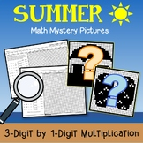Summer 3-Digit by 1-Digit Multiplication, Summer Practice Math Worksheets