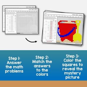 Summer 3-Digit by 1-Digit Multiplication, Summer Practice Math Worksheets