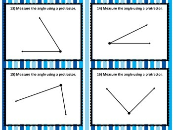 NEW  Classify, Measure, Draw Angles Task Cards (4.7C,4.7D & 4.MD.C.6,4.G.A.1)