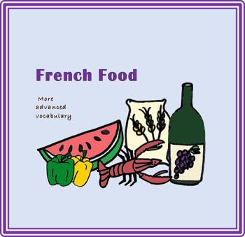 48 Advanced French Food Mini-Flashcards