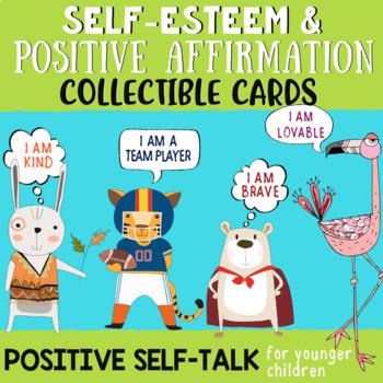 Positive Affirmation Brag Tags & Self-Esteem Cards: Teaching Positive Self-Talk
