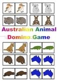 Australian Animal Theme Fun Domino Game In Color For the Juniors Just Laminate