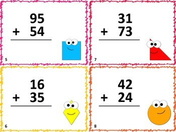 48 Back to School Math Task Cards: Two Digit Addition and Subtraction
