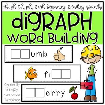 48 Beginning & Ending Digraph (CH, SH, TH, WH, PH) Word Wo