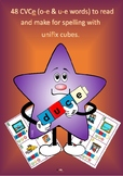 48 CVCe (o-e & u-e) words to read, make and write with unifix cubes.