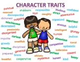 48 Character Trait Poster Cards Positive, Negative, and Neutral Traits