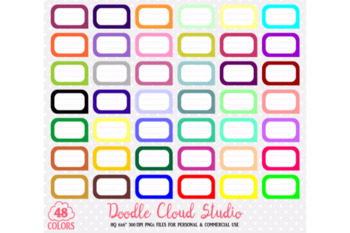 48 Colorful Labels Clipart Label Banner Stickers Icons.