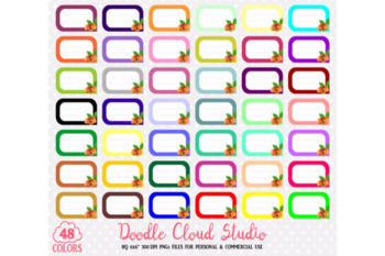 48 Colorful Peach Labels Clipart Fruit Apricot Labels Stickers Icons PNG