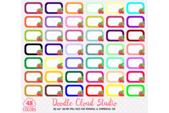 48 Colorful Raspberry Labels Clipart Fruit Raspberries Labels Stickers Icons.