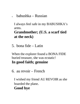 48 Commonly Used Foreign Phrases Ready for Overheads