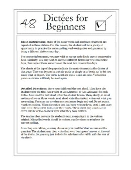 48 Dictées for Beginners