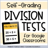 48 Digital SELF-CHECKING Division Tests for Google Forms -