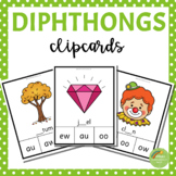 48 Diphthongs Digraphs Clipcards (au, ew, aw, oo, oi, ou, oy, ow)