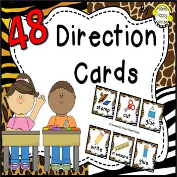 48 Directions Cards~ Jungle/Safari Print