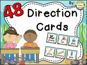 48 Directions Cards~ Ocean