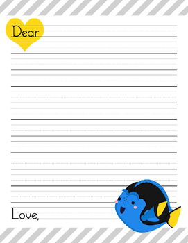 48 Disney Inspired Finding Nemo Letter Writing Paper sheets