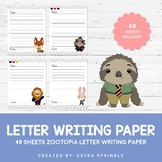48 Disney Zootopia Inspired Letter Writing Paper Sheets