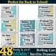 48 Drawer Labels --Gray Teal White Yellow Chevron Stripes Plus
