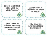 48 Earth Day Writing Prompts and Story Starter Task Cards