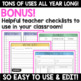 Editable Grade Sheets, Checklists and To-Do Lists for Teachers