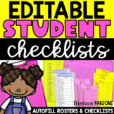 Checklists and Grade Sheets for Teachers