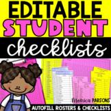Back to School Checklists for Classroom Procedures   EDITABLE