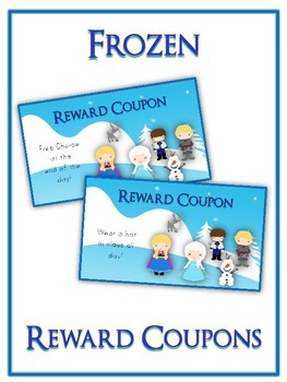48 Frozen Reward Coupons - Colorful Behavior Incentive Scr