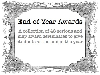 48 fun and academic end of year award certificates by nicholas reitz