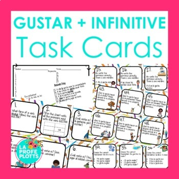 48 GUSTAR + Infinitive Task Cards