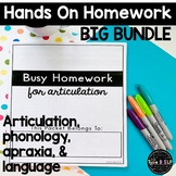 Distance Learning Speech Therapy: Busy Homework for Speech BUNDLE