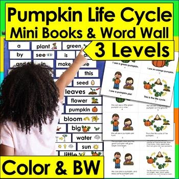 Pumpkins Life Cycle Readers - 3 Reading Levels + Illustrat