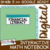 Fifth Grade DIGITAL Math Interactive Notebook: Personal Fi