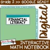 Second Grade DIGITAL Math Interactive Notebook: Financial