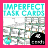 48 Spanish Imperfect Tense Task Cards (Regular and Irregular Verbs)